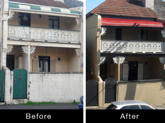 Parkville Exterior Painting Before After