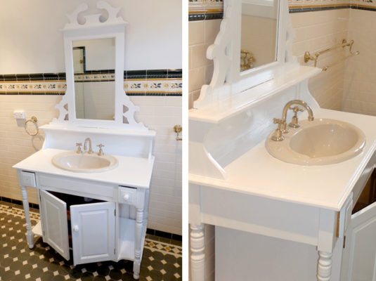 Parkville White Vanity Painting Bathroom